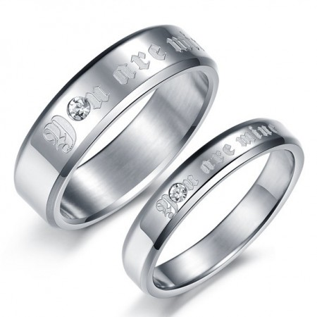 """You Are Mine"" Lover Rings Engravable Titanium Steel Rings For Couples(Price For A Pair)"