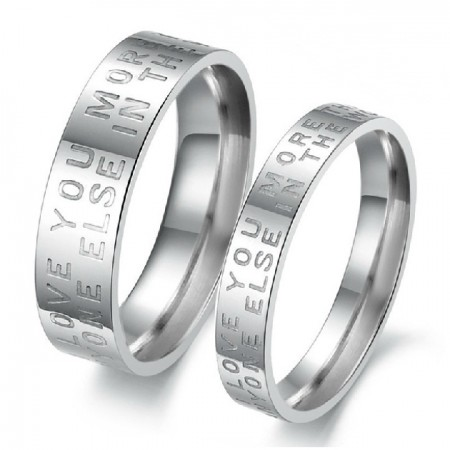 Engravable Matching Ring Set For Couples Titanium Steel Lover Ring(Price For A Pair)