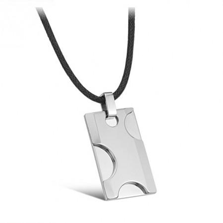 Engravable Men's Tungsten Steel Necklace