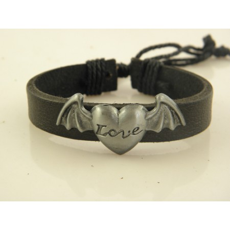 """Love"" Leather Bracelet"