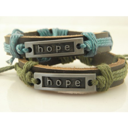 Hope Handmade Leather Bracelet