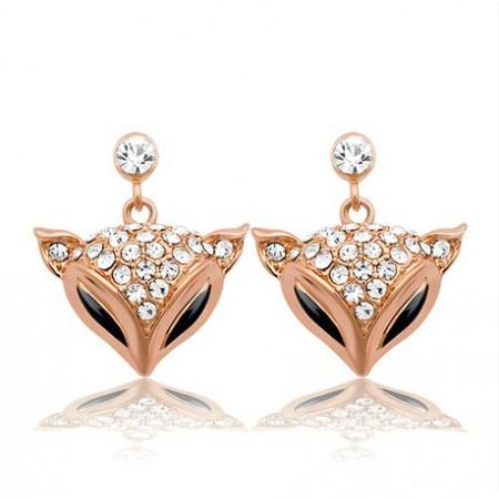 Elegant Crystal Fox Women's Fashion Earring