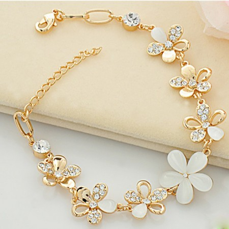 New Fashion Blooming Flowers Of Opal Women's Fashion Bracelet