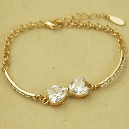 Elegant Crystal Bowknot Women's Fashion Bracelet