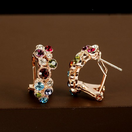Amazing Colorful Crystal Women's Fashion Earring