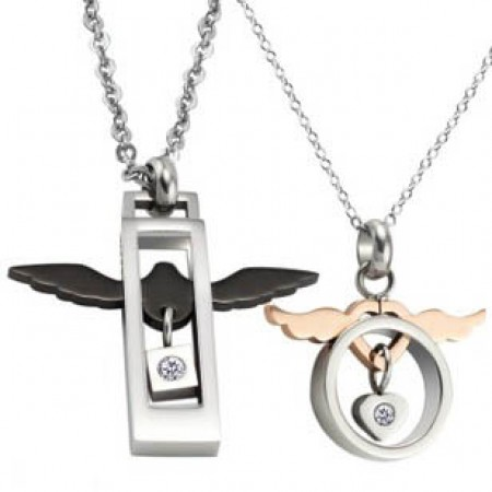 New Design Angel Love Couple Necklace For Lady(Price For a Pair)