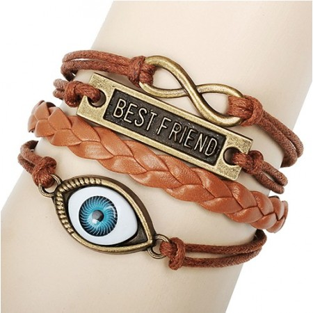 "Evil Eye ""Best Friend"" New Fashion Retro Bracelet"