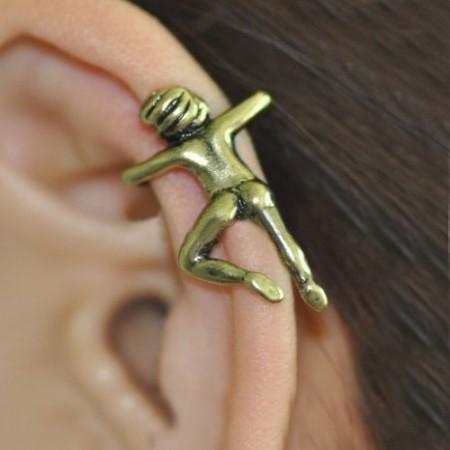 Unique Gothic Figure Non Ear Piercing Allergic Free Single Women's Ear Cuff
