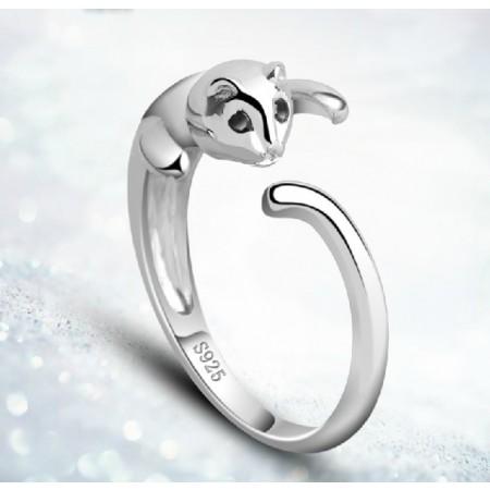 Lovely Little Cat Women's Sterling Silver Ring