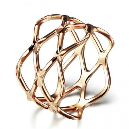 Stylish Net Style 18K Gold Plated Women's Ring
