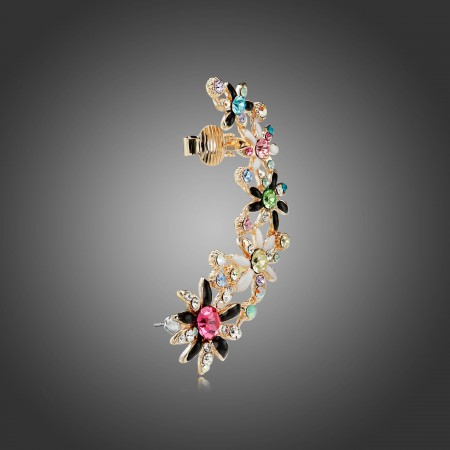 New Lovely Colorful Crystal Daisy Woman's Fashion Ear Cuff