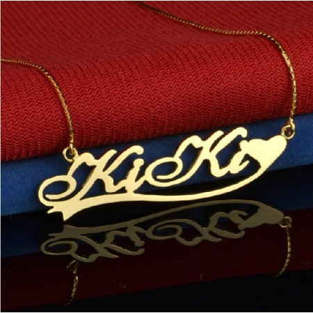 Lovely And Charming Sterling Silver Women's  Monogram Necklace, Personalized