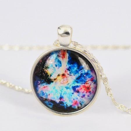 Shining Nebula Pattern Time Gemstone Necklace For Women