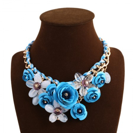 Beautiful Floral-shaped All-match Clavicle Chain/Statement Necklace