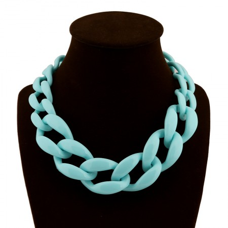 Candy Colors Acrylic Twist All-match Women's Statement Necklaces