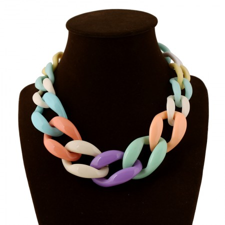 Fashion Acrylic Twist Women's Statement Necklaces