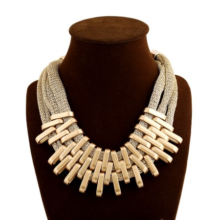 Hyperbolic European Acrylic Multilayer Tassel Statement Necklace