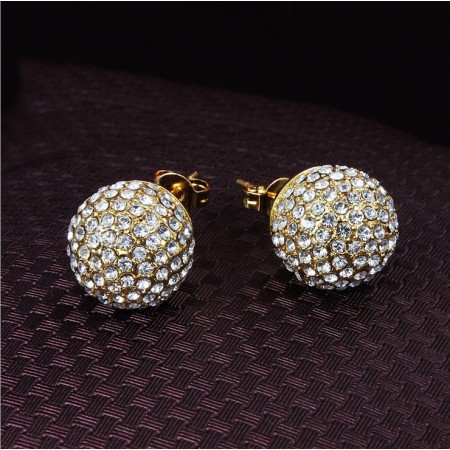 European Fashion Transfer Beads Crystal Drop Earrings