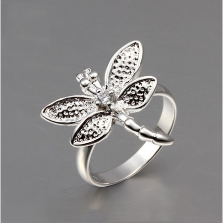 European And American Fashion A Single product Dragonfly Ring