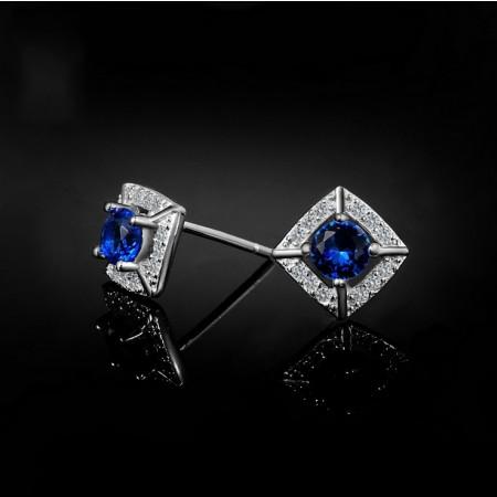 Fashion Bright Zircon 925 Sterling Silver Women'S Earring