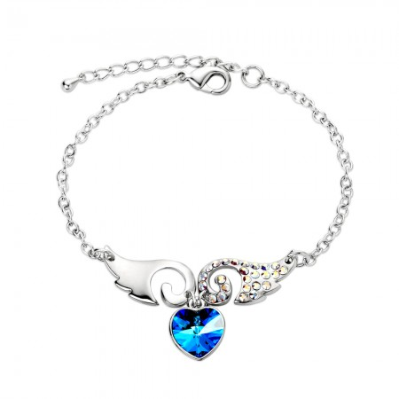 Romantic love wings Zircon fashion wild Women's Bracelet