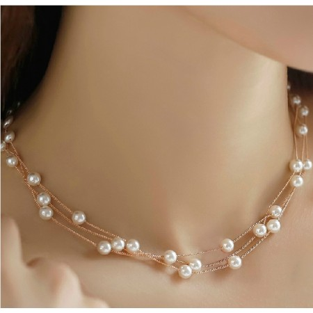 Fashion Wild Multi-pearl Necklace For Women's