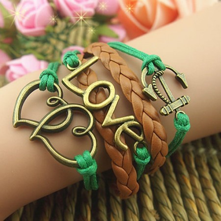 Elegant Bronze Palm  Braided Retro Bracelet