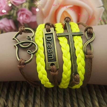 Retro Cross Runner Braided Retro Bracelet