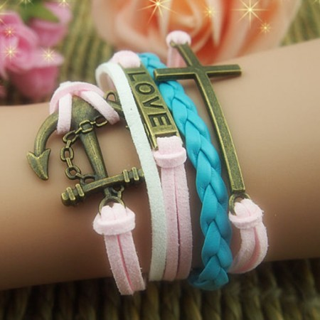 Fashional Love Dream Braided Retro Bracelet