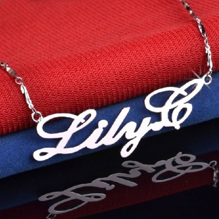 Fastidious And Particular Personalized Sterling Silver Women's  Monogram Necklace For Your One And Only