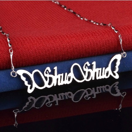 Stylish And Charming Personalized Handmade Personalized Sterling Silver Women's Monogram Necklace