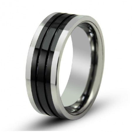 Men's Wide Tungsten Ring Different Sizes Available