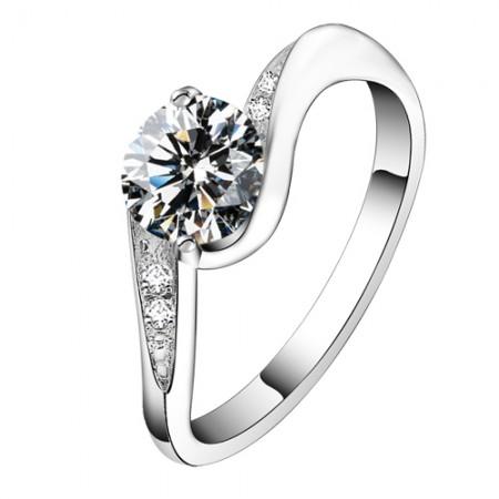 Romantic Love  NSCD Diamond  Wedding Ring
