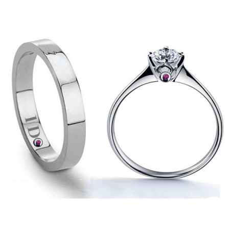 Engravable 925 Sterling Silver With Cubic Zirconia Couple Rings For Lovers(Price For a Pair)
