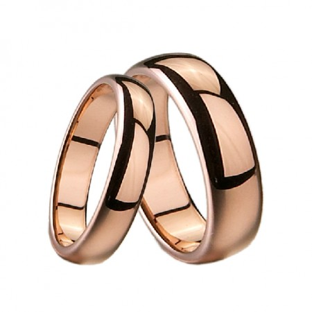 Rose Gold Plated Tungsten Lover Rings For Couples(Price For a Pair)
