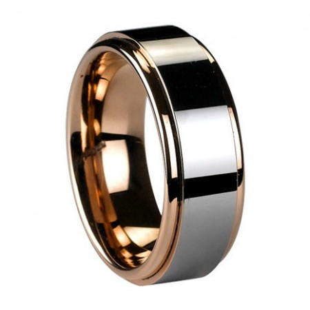 Stunning Gold Plated Tungsten Ring