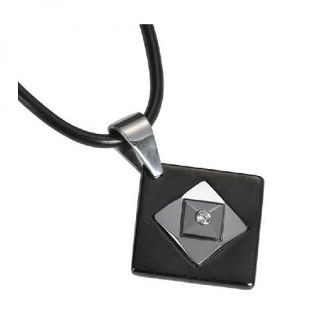 Women's Cubic Zirconia Inlaid Tungsten Necklace