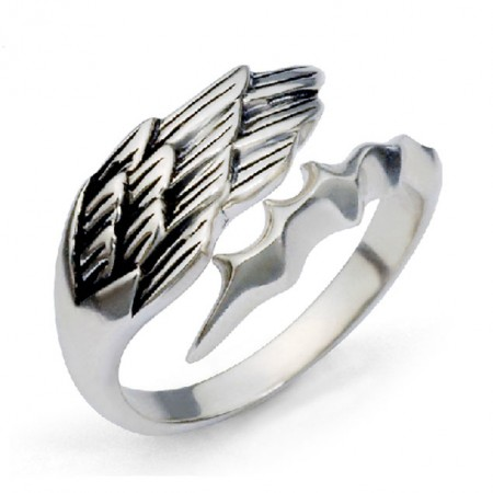Angel And Devil 925 Sterling Silver Unisex Ring