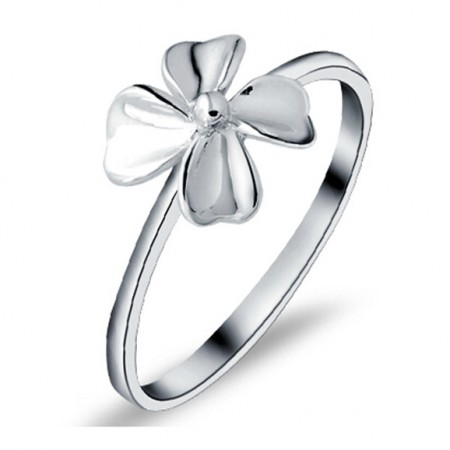 Four Leaf Clover 925 Sterling Silver Ring
