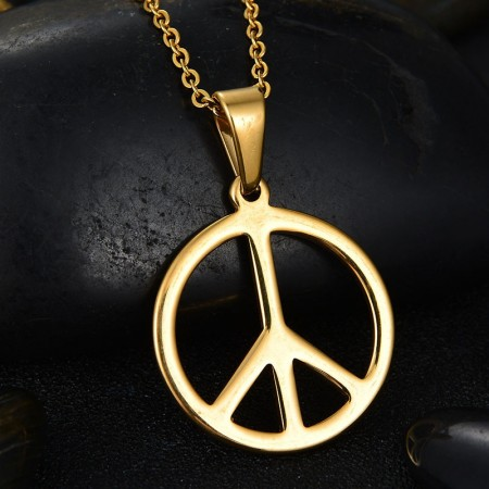 Letters Antiwar Long Necklace