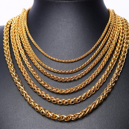 Hip Hop Necklace For Men, Men's Chunky Necklace, Rapper Fake Gold Chain 90s Hip Hop Fake Gold Necklace Costume Accessory