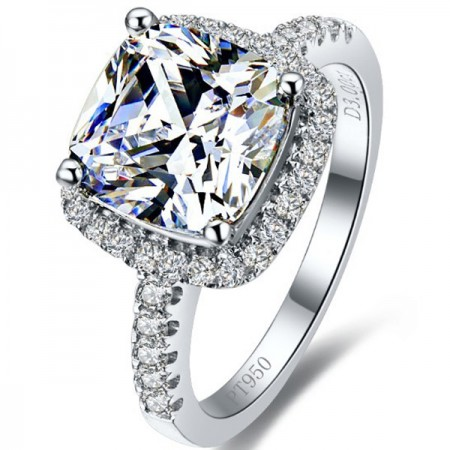 Excellent High Quality 3 Carat Artificial Diamond Engagement Ring
