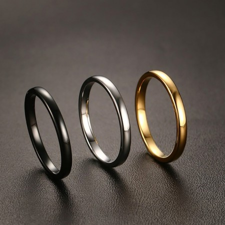 Three Color Simple High Quality Tungsten Steel Ring