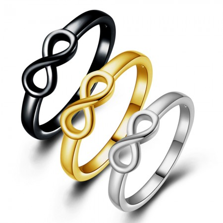 Yellow Golden INFINITY RING