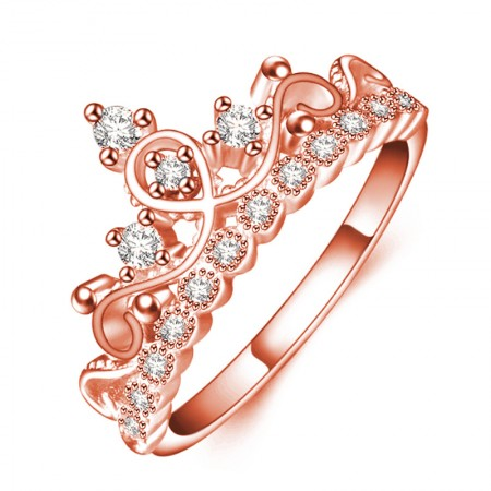 Design Romantic Gifts For Love Rose Gold Crown Ring