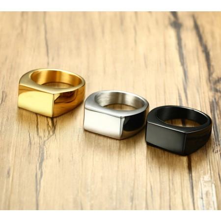 Simple Stainless Steel Men's Rings
