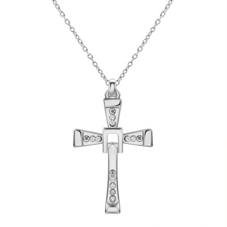 The Fast And The Furious Dominic Toretto Cross Necklace Chain Pendant