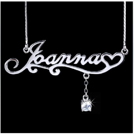 Custom Name Necklace Personalized Stering Silver Name Necklace / Monogram Necklace