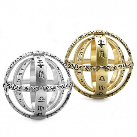 Astronomical Finger Foldable Ring Astronomical Sphere Ball Ring Foldable Cosmic Ring Best Gift for Lover