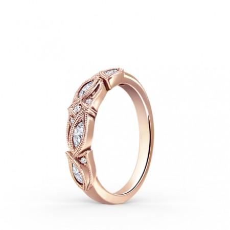 Rose Gold Diamond Wedding Band For Women